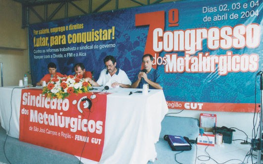 7º Congresso do Metalúrgicos, em 2004