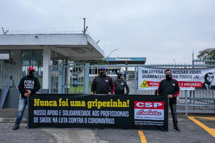 Mobilização na Panasonic, em Jacareí