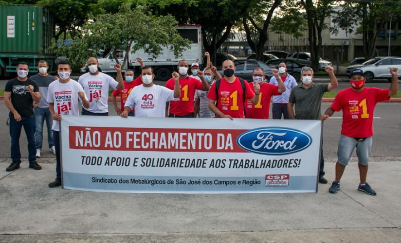 Trabalhadores da Eaton em apoio a luta contra o fechamento da Ford no Brasil