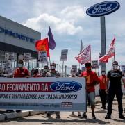 Sindicato e a CSP-Conlutas realizam ato em frente à concessionária da Ford