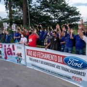 Trabalhadores da TI Automotive em apoio a luta contra o fechamento da Ford no Brasil
