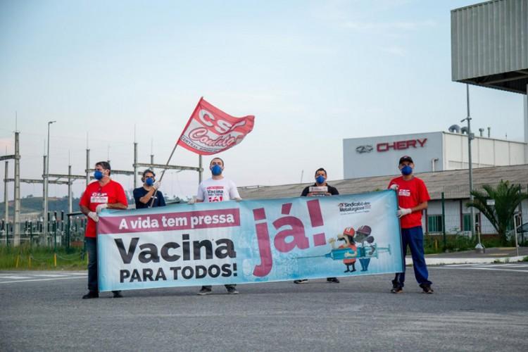 Mobilizações em frente à Caoa Chery pelo dia nacional de luta