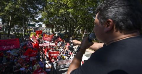 Ato unificado em São José contra a Reforma da Previdência