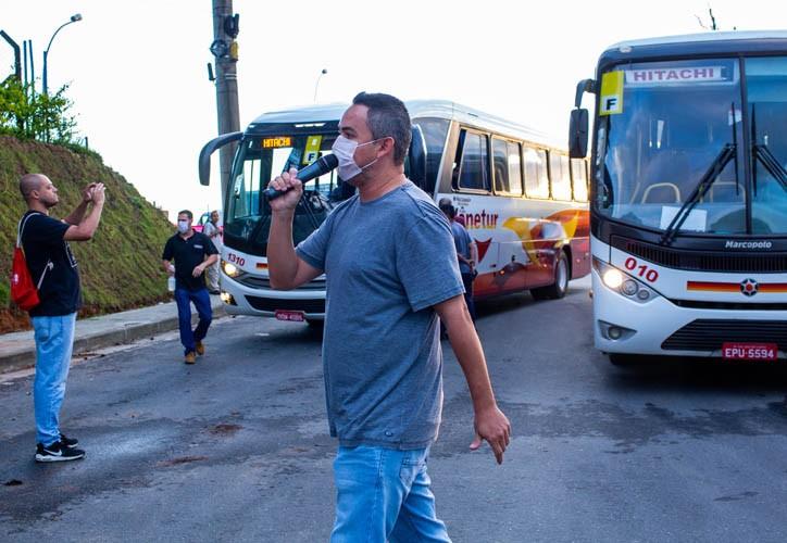 Presidente do Sindicato, Weller Gonçalves, na Hitachi