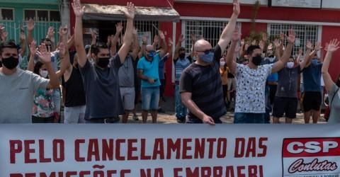 Audiência de mediação e assembleia contra as demissões na Embraer - 08.09
