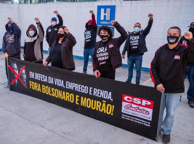 Mobilização na Hubner Sanfonas, em Caçapava