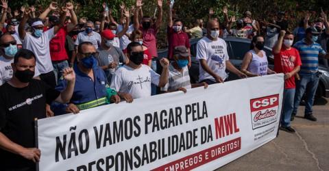 Após reunião no MPT, trabalhadores da MWL mantêm greve