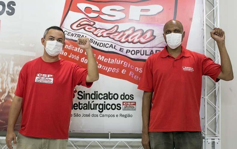 Presidente reeleito, Weller Gonçalves, e Valmir Mariano, vice-presidente eleito