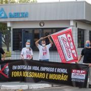 Mobilizações em frente à Delta pelo dia nacional de luta