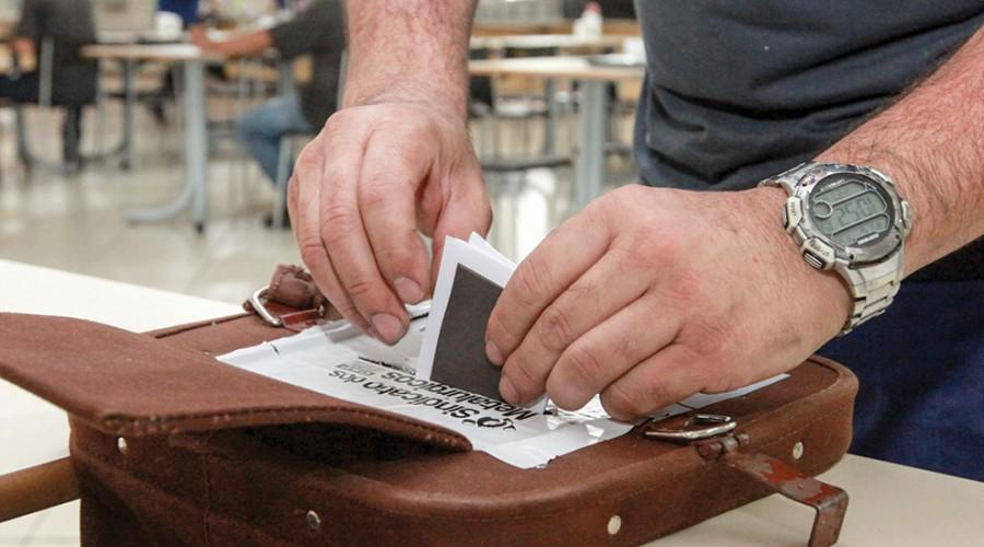 Sócio do Sindicato vota na última eleição em 2018