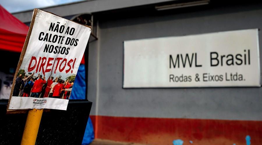 Fachada da MWL, em Caçapava