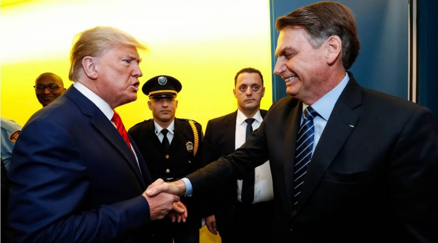 Trump cumprimenta Bolsonaro na ONU