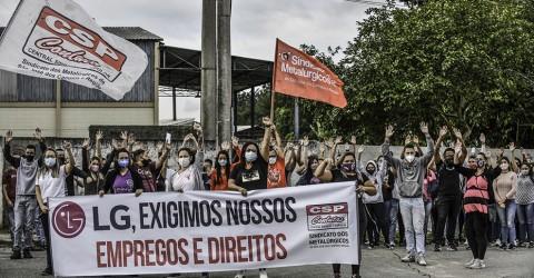 Solidaridad con la huelga de las trabajadoras y trabajadores de las empresas suministradoras de LG en Brazil