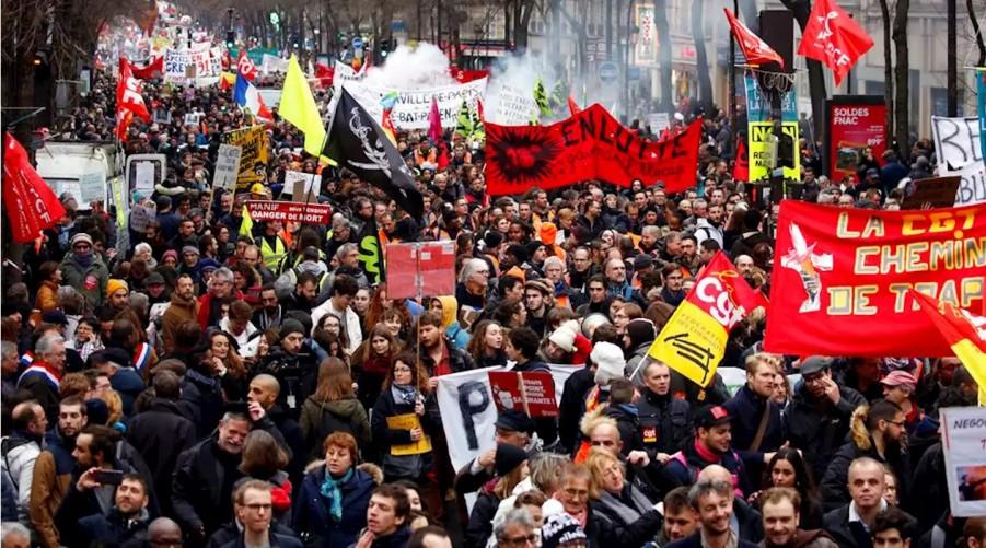 Mais de um milhão de franceses tomaram às ruas