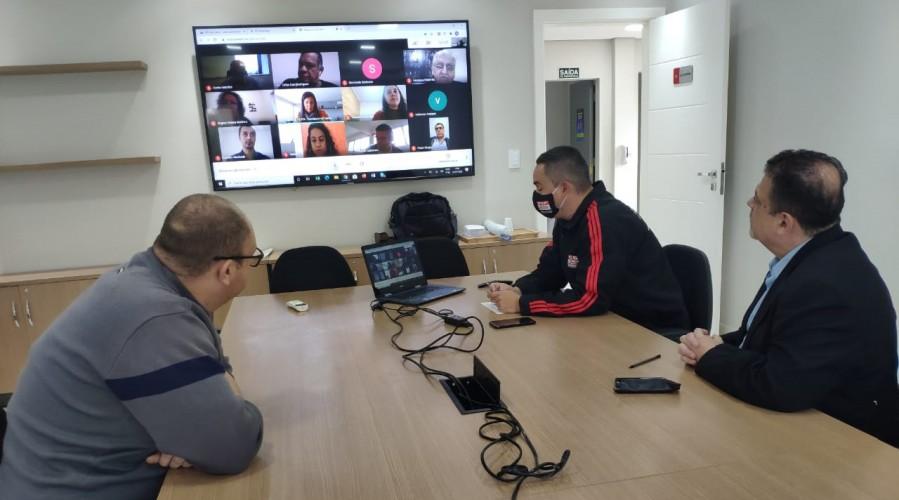 Reunião ocorreu de forma virtual