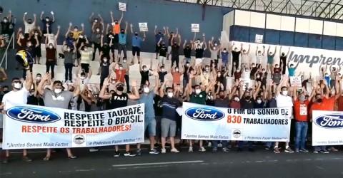 Em ato contra fechamento da Ford, metalúrgicos aprovam unidade da luta