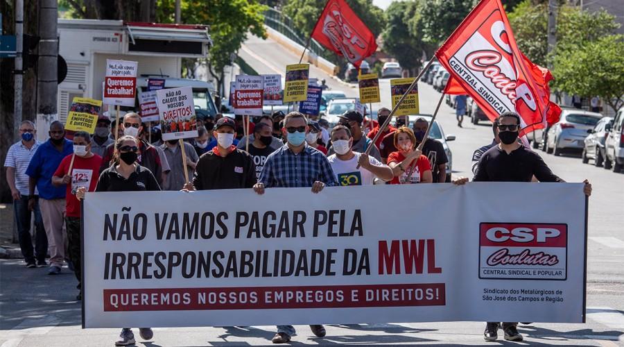 Marcha dos trabalhadores da MWL