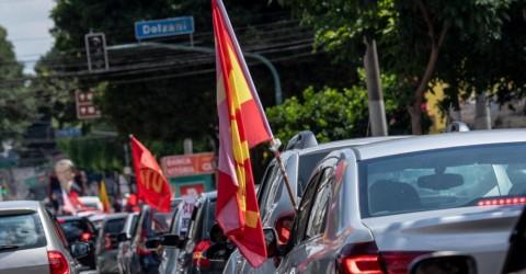 Nova carreata exige Fora Bolsonaro e vacina para todos