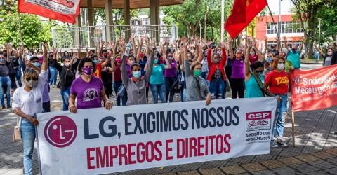 Trabalhadoras de fornecedoras da LG rejeitam proposta patronal e continuam em greve