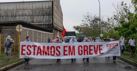 Metalúrgicos da MWL encerram ocupação mas permanecem em greve