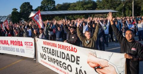 Los trabajadores de General Motors de Brasil piden  solidaridad a la huelga
