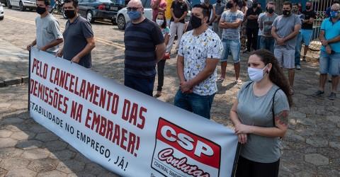 Sindicato pede audiência pública sobre demissões na Embraer