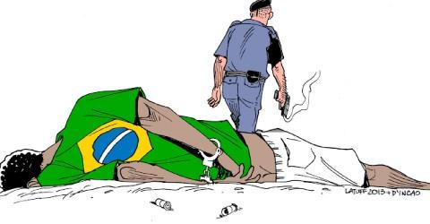 Deputado do PSL destrói quadro que denuncia genocídio negro