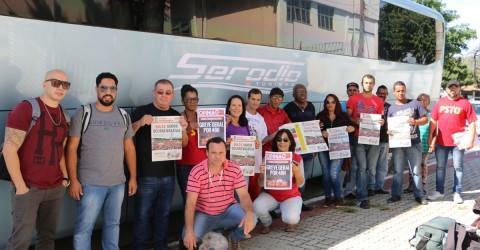 Chegou a hora: manifestantes da região já estão a caminho de Brasília