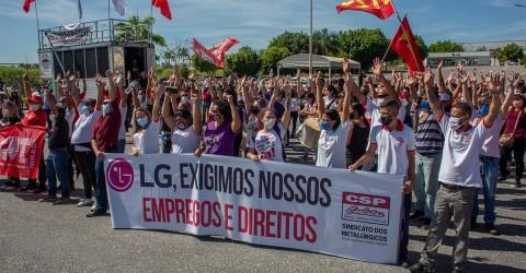 Trabalhadores da LG e fornecedoras unificam luta por empregos e direitos