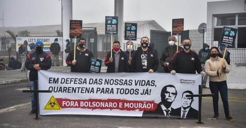 Em dia de luta, metalúrgicos exigem: Fora Bolsonaro e Mourão