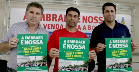 Metalúrgicos assinam manifesto contra venda da Embraer