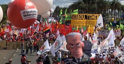 Manifestação contra Temer e reformas leva 150 mil a Brasília