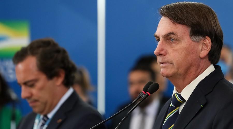 Bolsonaro em entrevista coletiva